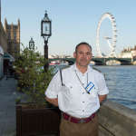 Capt Buddhi on the House of Lords' terrace