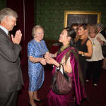 Lord and Lady Swinfen welcoming the Nepalese guests