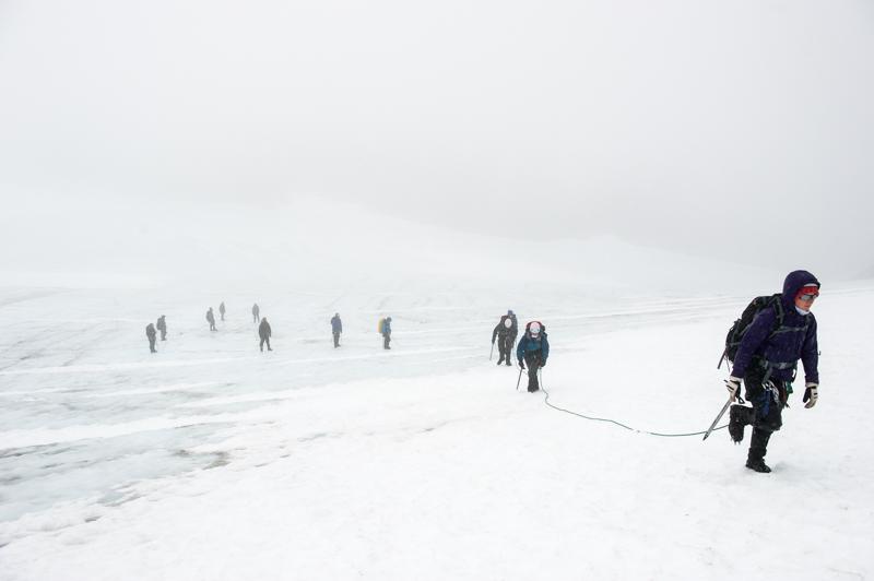 Traversing the glacier