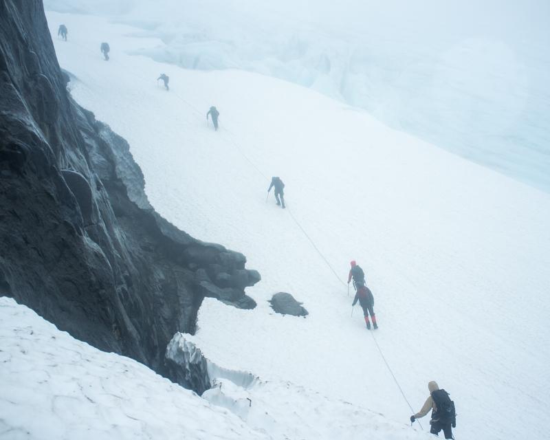 Up the glacier