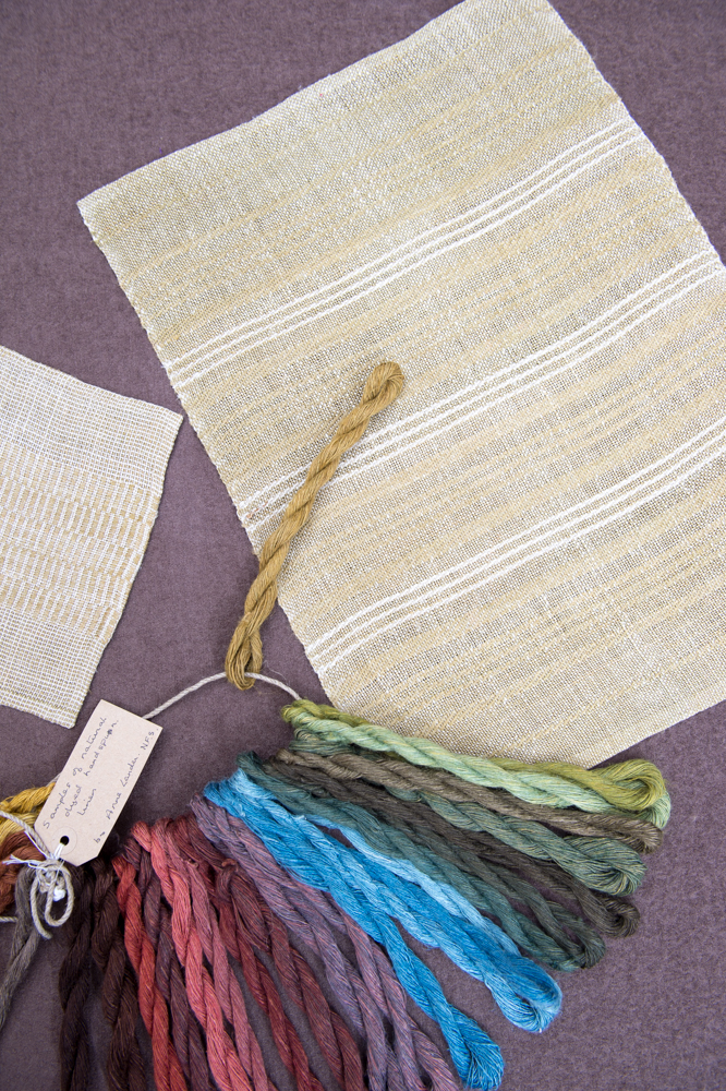 Linen with sample