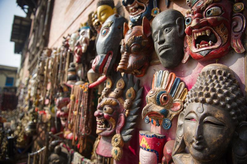 Monkey Temple Masks