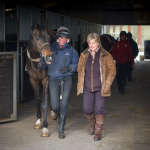Clare with rider and Mister Matt