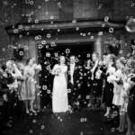 Cecily and Andrew bubbles B&W