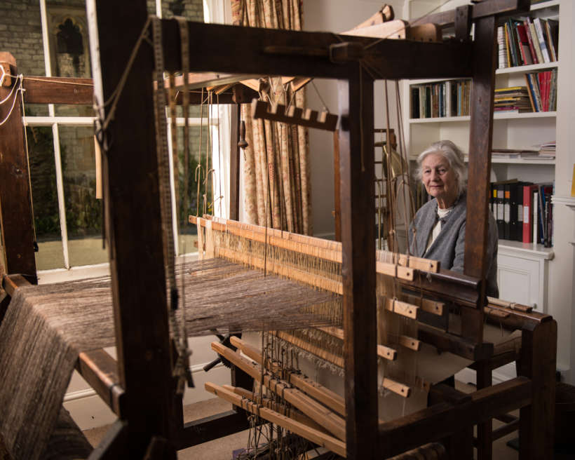 Ann at her loom