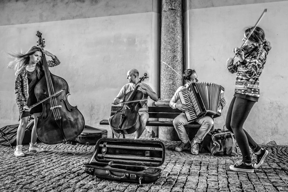 Street music shoot