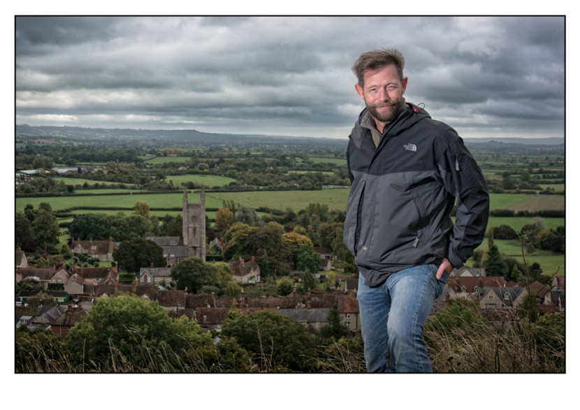 Tom's off-camera portrait with the Mere Church in context