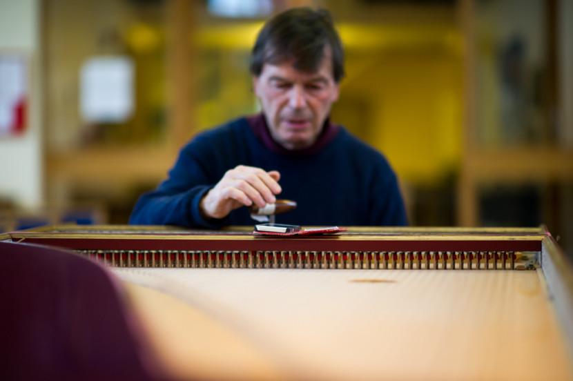 David tuning the Harpsichord