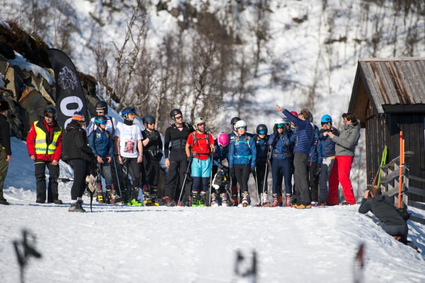 Ski-touring event start