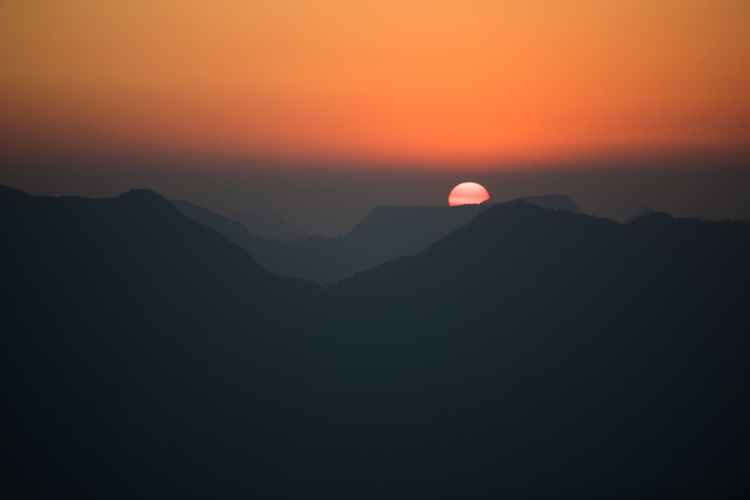 In Gorkha, we had some great sunsets