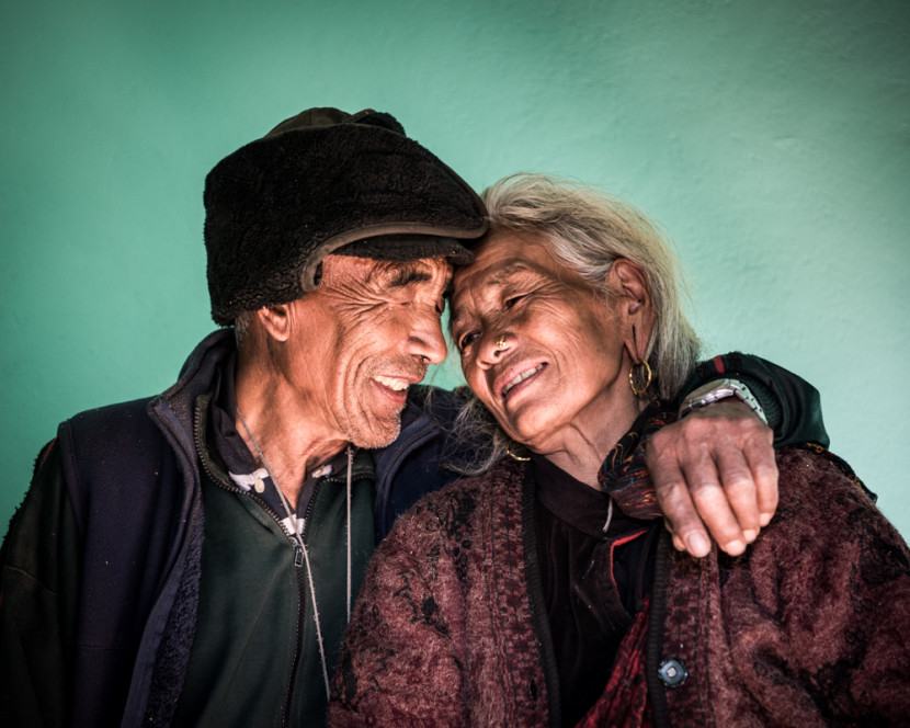 I photographed this couple just after the earthquake in the rubble of their house. They moved into their new Gurkha Welfare Trust house on the day we took this photo