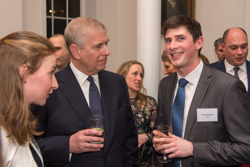 Prince Andrew with Tom, our deputy Chief Leader