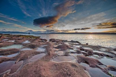 ...which sits right on the coast of Bute