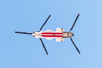 UN Chinook overhead
