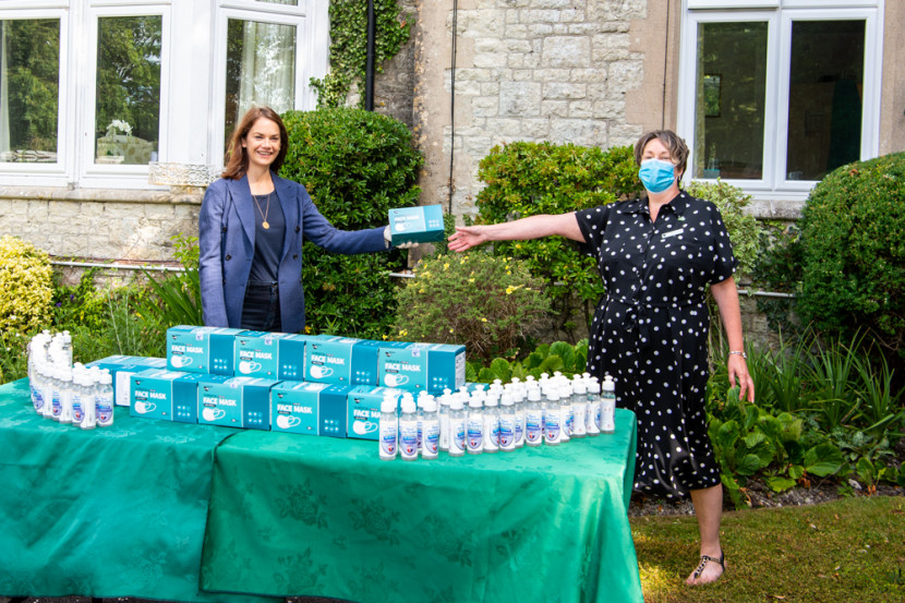 Ruth at a local Care Home distributing PPE